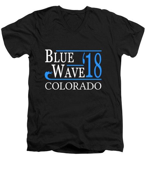 Blue Wave Colorado Vote Democrat 2018 Men's V-Neck T-Shirt