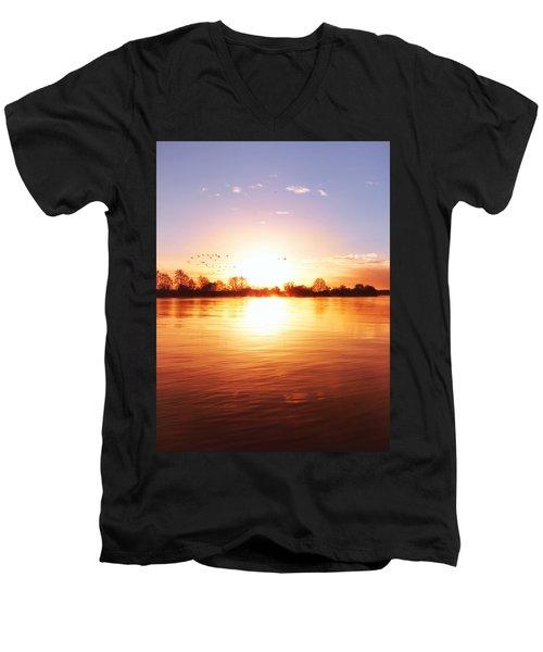 Born In Fire Men's V-Neck T-Shirt