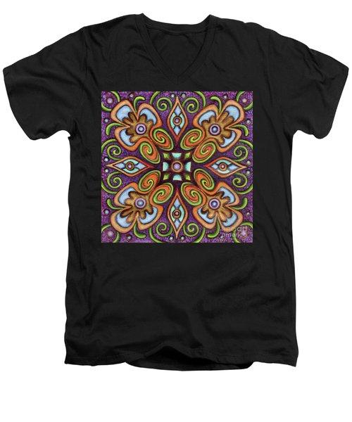 Botanical Mandala 11 Men's V-Neck T-Shirt