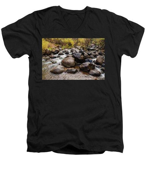 Boulders In Creek Men's V-Neck T-Shirt