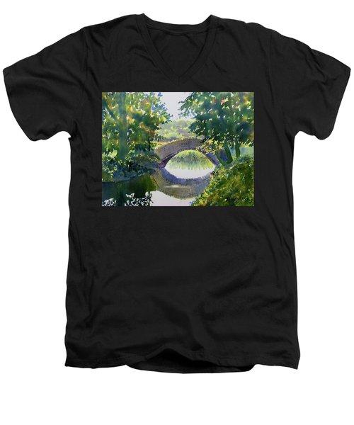 Bridge Over Gypsy Race Men's V-Neck T-Shirt