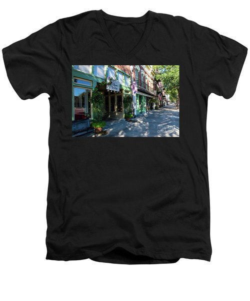 Broad Street Downtown Augusta Ga Men's V-Neck T-Shirt