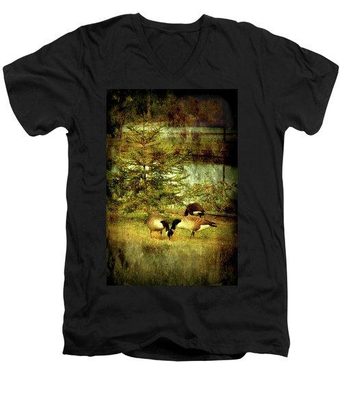 By The Little Tree - Lake Carasaljo Men's V-Neck T-Shirt