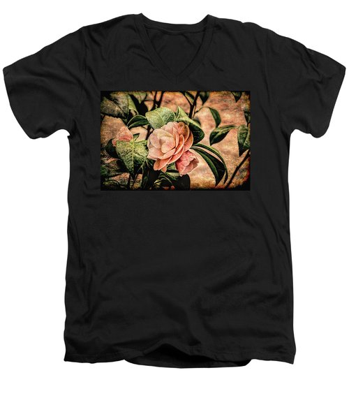Camellia Grunge Men's V-Neck T-Shirt