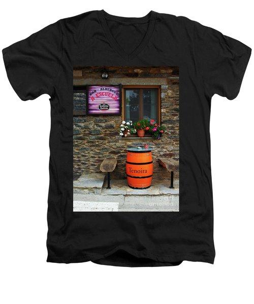 Camino Pilgrim's Repast Men's V-Neck T-Shirt