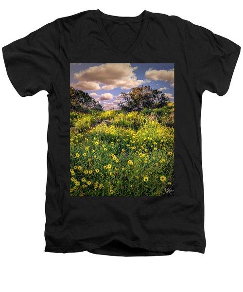 Chatsworth Wildflower Bloom Men's V-Neck T-Shirt