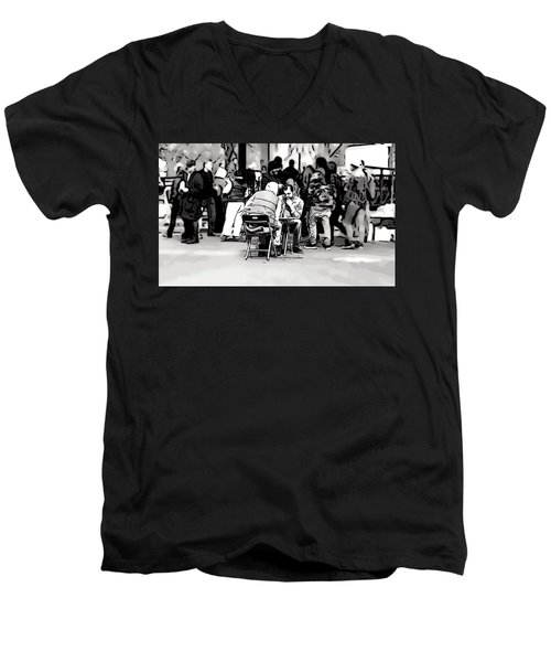 Chess Match Union Square  Men's V-Neck T-Shirt