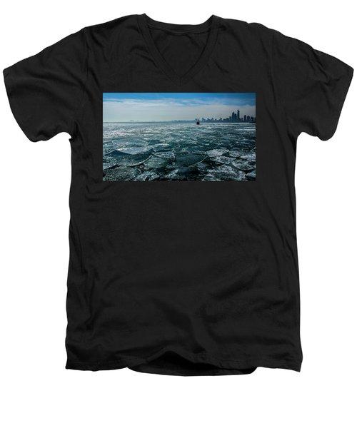 Chicago From Navy Pier 2 Men's V-Neck T-Shirt