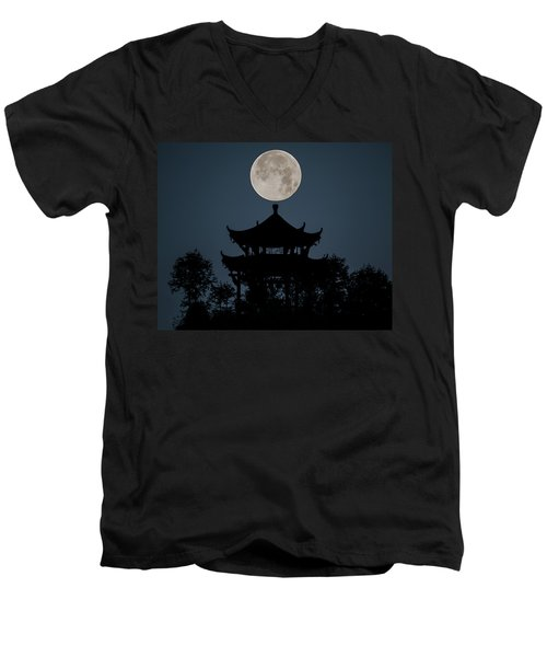 China Moon Men's V-Neck T-Shirt
