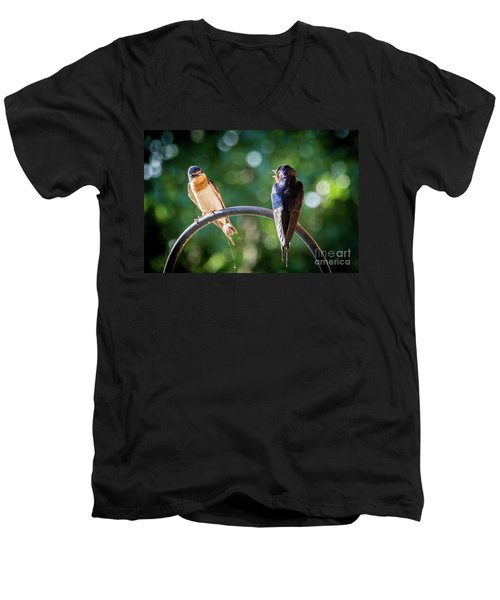 Chirping Men's V-Neck T-Shirt