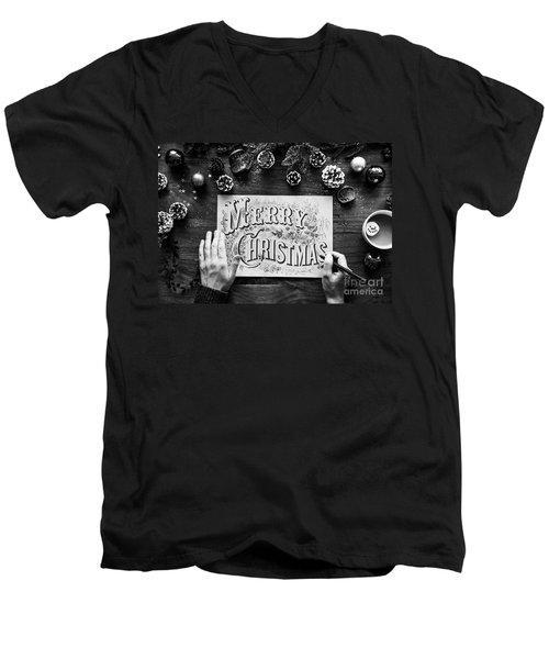 Christmas 1 Men's V-Neck T-Shirt