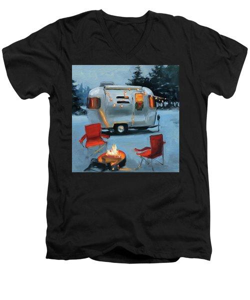 Christmas In The Snow Men's V-Neck T-Shirt