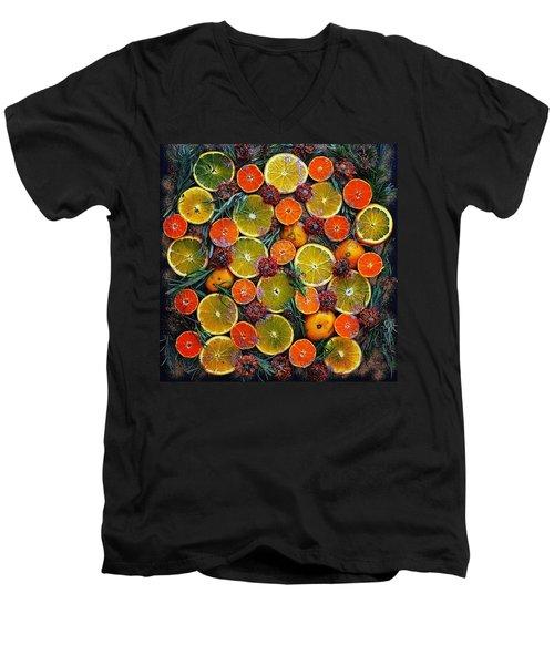 Citrus Time Men's V-Neck T-Shirt