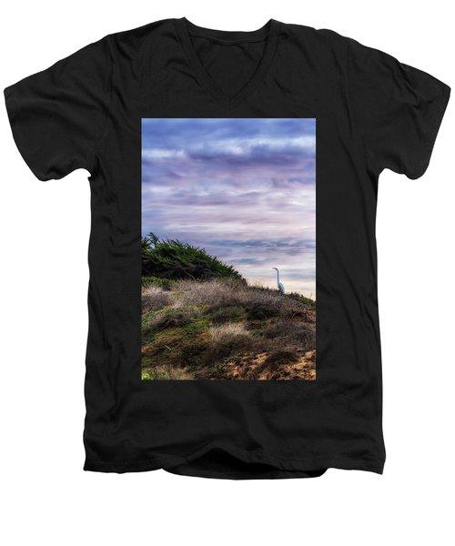 Cliffside Watcher Men's V-Neck T-Shirt