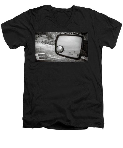Cloudy Day Reflection Men's V-Neck T-Shirt