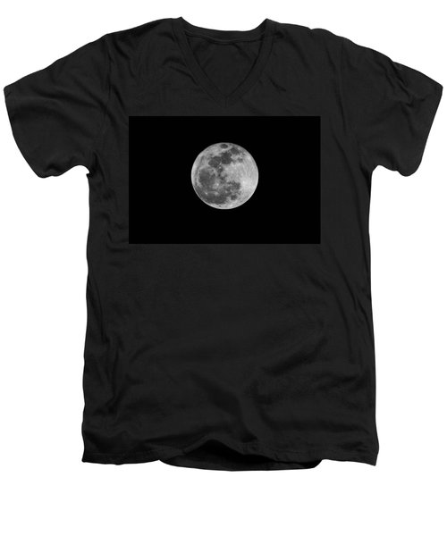 Full Cold Moon Men's V-Neck T-Shirt