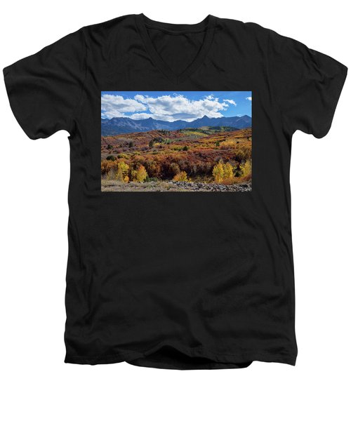Men's V-Neck T-Shirt featuring the photograph Colorado Color Lalapalooza by James BO Insogna