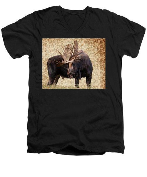 Contemplating Men's V-Neck T-Shirt