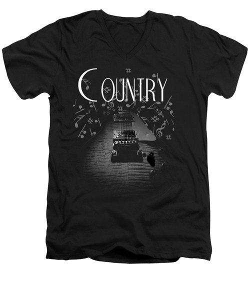 Country Music Guitar Music Men's V-Neck T-Shirt