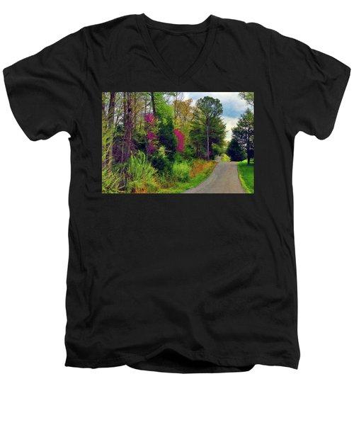 Country Road Take Me Home Men's V-Neck T-Shirt