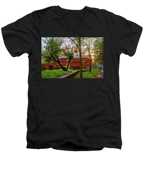 Covered Through Tree Men's V-Neck T-Shirt