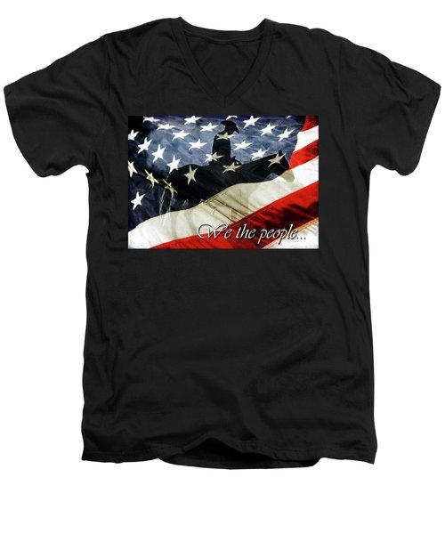 Cowboy Patriot Men's V-Neck T-Shirt