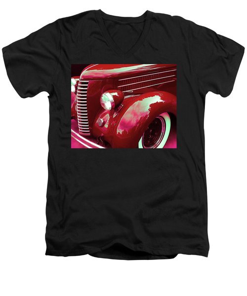 Custom 1936 Ford Nash Grill Men's V-Neck T-Shirt