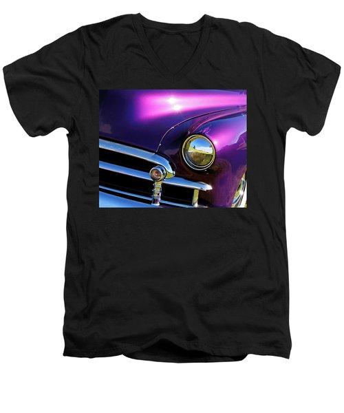 Custom Purple Chevy Men's V-Neck T-Shirt