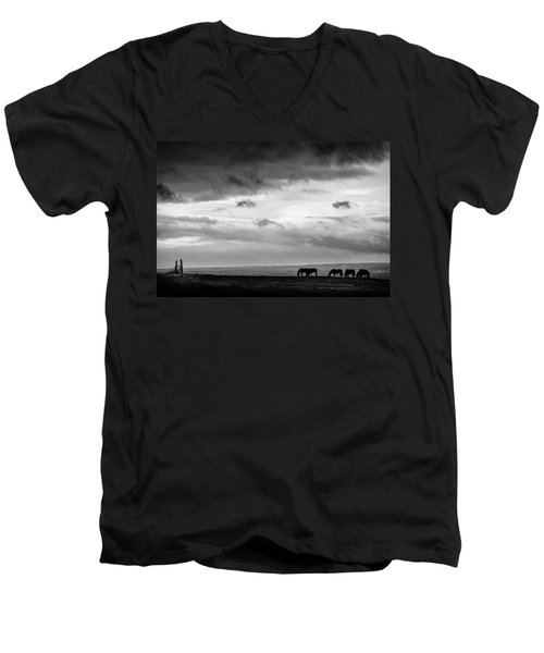 Days End At Hvammstangi Men's V-Neck T-Shirt