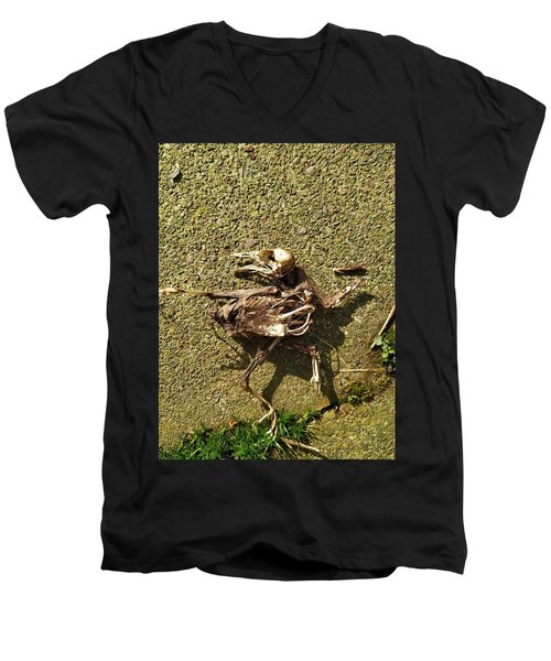 Death Shows Us We Are Nothing But Bones Men's V-Neck T-Shirt