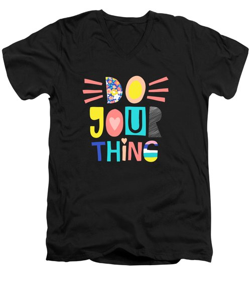 Do Your Thing - Baby Room Nursery Art Poster Print Men's V-Neck T-Shirt