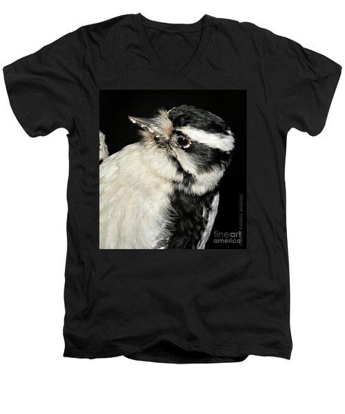 Downy Woodpecker Female Men's V-Neck T-Shirt