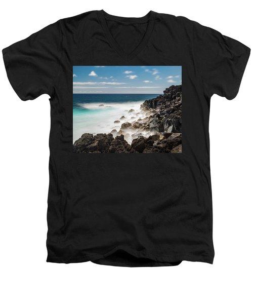 Dreamy Hawaiian Coastline Men's V-Neck T-Shirt