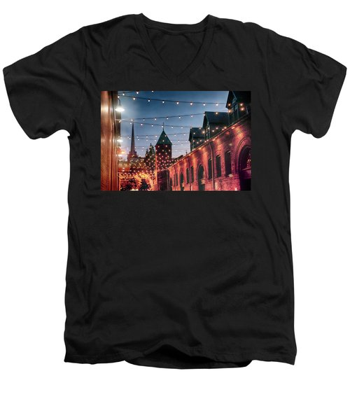 Dusk Lights Men's V-Neck T-Shirt