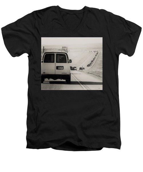 Eclipse Bound Men's V-Neck T-Shirt