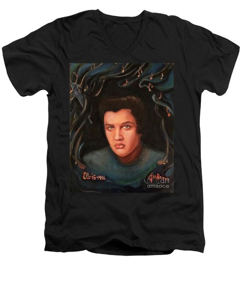 Elvis Men's V-Neck T-Shirt