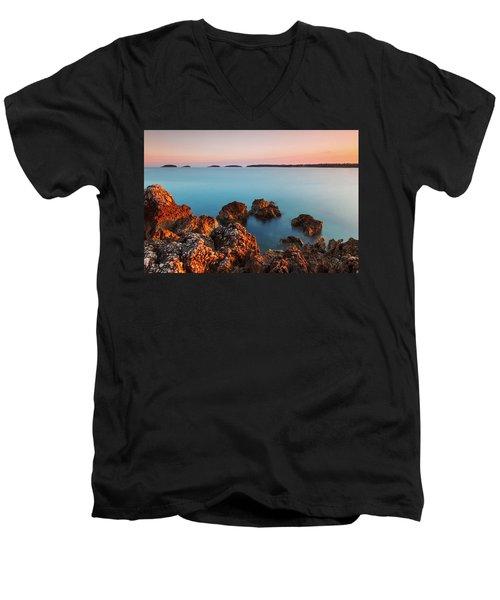 Ember And Blue Men's V-Neck T-Shirt