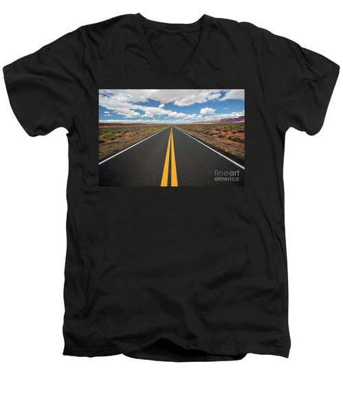 Empty Highway Men's V-Neck T-Shirt
