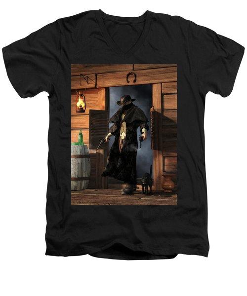 Enter The Outlaw Men's V-Neck T-Shirt