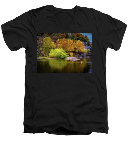 Fall Colors Of The Ozarks Men's V-Neck T-Shirt