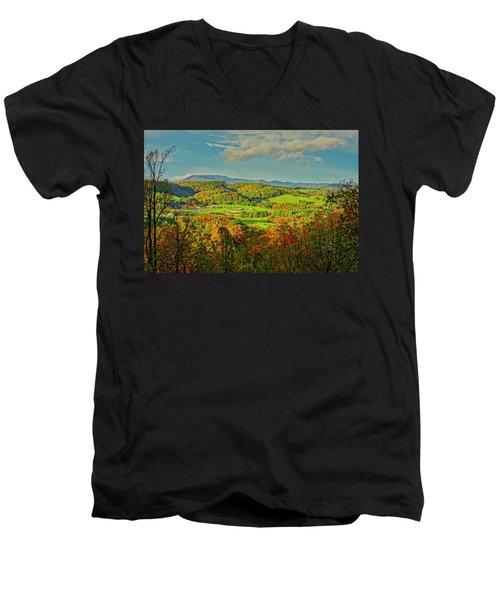 Fall Porch View Men's V-Neck T-Shirt