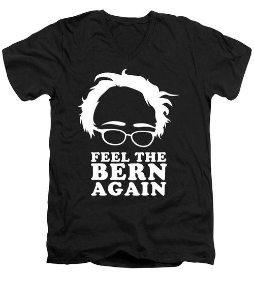Feel The Bern Again Bernie Sanders 2020 Men's V-Neck T-Shirt