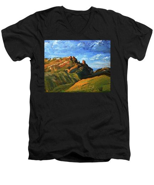Finger Rock Splendor  Men's V-Neck T-Shirt