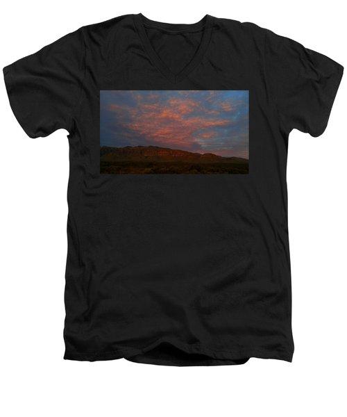 First Light Over Texas 3 Men's V-Neck T-Shirt
