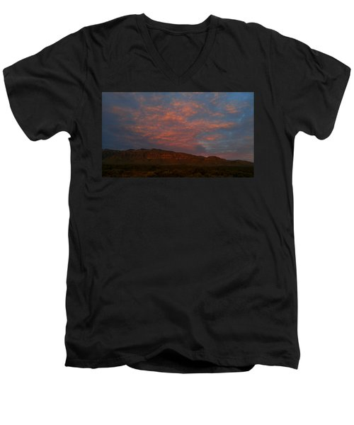 First Light Over Texas 3 Men's V-Neck T-Shirt