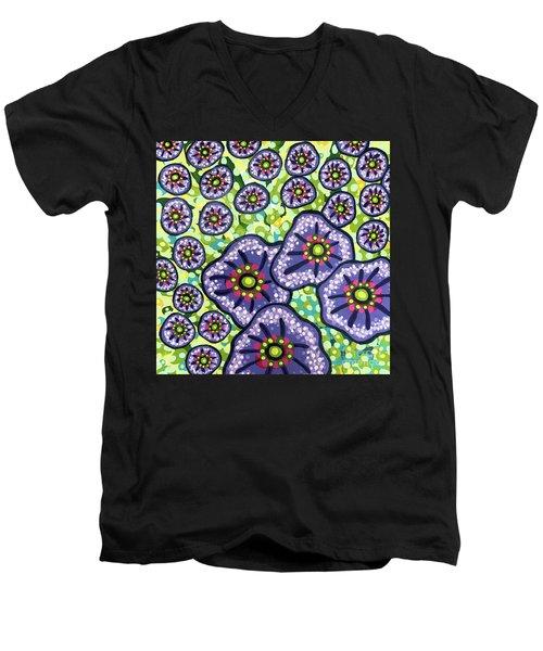 Floral Whimsy 4 Men's V-Neck T-Shirt