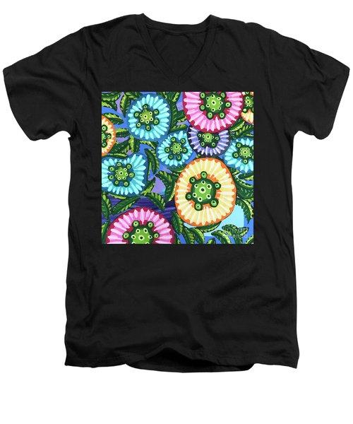 Floral Whimsy 6 Men's V-Neck T-Shirt