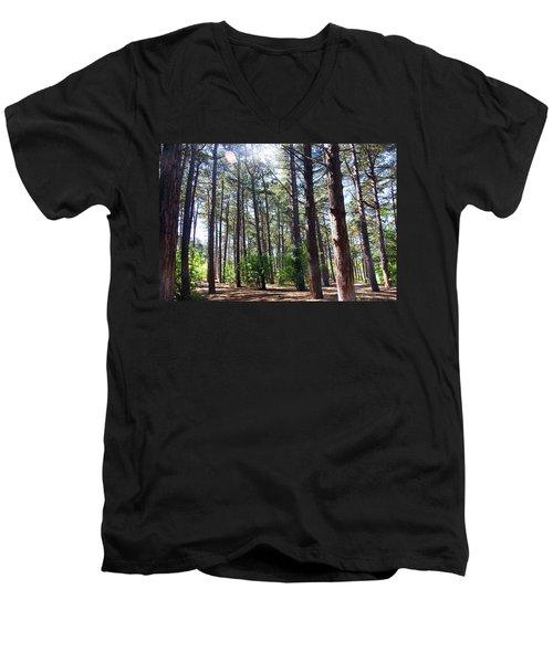 Formby. Woodland By The Coast Men's V-Neck T-Shirt