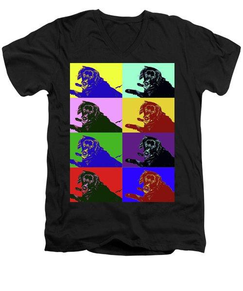 Foster Dog Pop Art Men's V-Neck T-Shirt