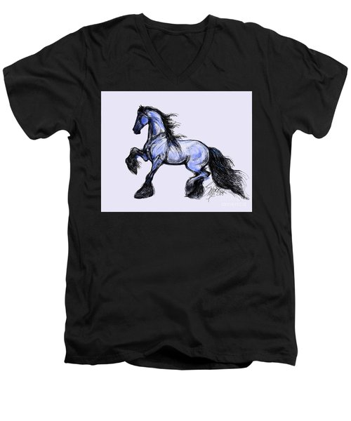Friesian Mare Men's V-Neck T-Shirt